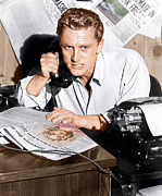 On The Phone Prints - Ace In The Hole, Kirk Douglas, 1951 Print by Everett
