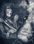 Ace Frehley Posters - Ace Poster by Kathleen Kelly Thompson