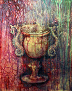 Goblet Mixed Media Framed Prints - Ace Of Cups Framed Print by Ashley Kujan