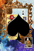 Ace Of Spades Framed Prints - Ace of Spades Framed Print by Michele Jackson