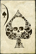 Ace Of Spades Framed Prints - Ace Framed Print by Shayne of the  Dead
