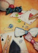 Ties Art - Aces and Jacks by Lorraine Ulen