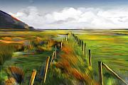 Rural Landscapes Mixed Media Prints - Achill Island - West Coast Ireland Print by Bob Salo