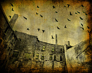 Old Buildings Digital Art Framed Prints - Acid Sky Framed Print by Gothicolors And Crows