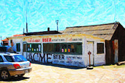 Historical Landmark Digital Art Metal Prints - Acme Beer At The Old Lunch Shack At China Camp Metal Print by Wingsdomain Art and Photography