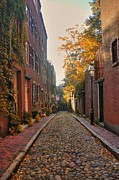 Fall In New England Metal Prints - Acorn St. 3 Metal Print by Joann Vitali