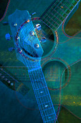 Guitar Photographs Posters - Acoustic Abstract Poster by Leilani Smith