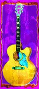 Acoustic Guitar Abstract Print by David G Paul