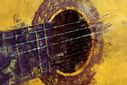 Instruments Digital Art Prints - Acoustic Guitar Print by David G Paul
