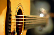 Acoustic Guitar Print by Gib Martinez