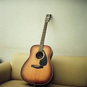 Acoustic Posters - Acoustic Guitar Poster by Jiang D photography