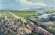Train Paintings - Across the Continent by Currier and Ives
