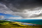 Chesil Beach Prints - Across the Fleet Print by Kris Dutson