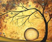 Upbeat Painting Posters - Across the Golden River by MADART Poster by Megan Duncanson