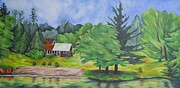 Adirondack Park Art - Across the Lake by Maria Cristina Borrero