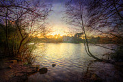 Mystical Art Photos - Across The Lake by Yhun Suarez