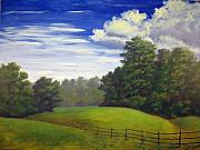 Piedmont Paintings - Across the Pasture by Steven Logan