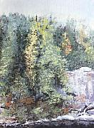 Falls Paintings - Across the Ravine by Todd A Blanchard