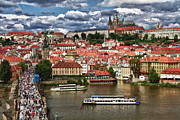 Charles Bridge Prints - Across the River Print by Jason Wolters