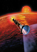 Science Fiction Framed Prints - Across the Sea of Suns Framed Print by Don Dixon