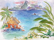 Moorea Paintings - Across The Sea Of The Moon by Pat Katz