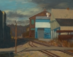 Industrial Painting Prints - Across the Tracks Print by Martha Ressler