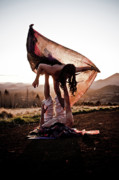 Transparent Fabric Posters - Acroyoga Curves Poster by Scott Sawyer
