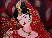 Priyanka Rastogi - Acrylic Painting-Lady...