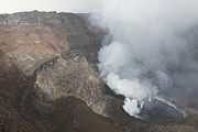 Craters Prints - Active Lava Lake In Summit Caldera Print by Richard Roscoe