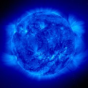 Hot Iron Prints - Active Sun In Ultraviolet Light, Soho Print by Solar & Heliospheric Observatory consortium (ESA & NASA)