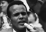 March On Washington Framed Prints - Actor And Singer Harry Belafonte Framed Print by Everett