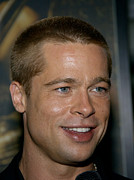 2000s Framed Prints - Actor Brad Pitt Attends The U.s Framed Print by Everett