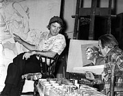 Lancaster Artist Prints - Actor Burt Lancaster Poses For Artist Print by Everett