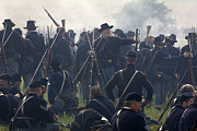 Historical Reenactments Photos - Actors Dressed As Union Soldiers by Pete Ryan