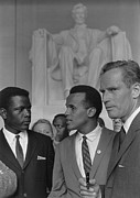Activists Framed Prints - Actors Sidney Poitier, Charlton Heston Framed Print by Everett