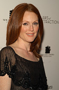Hair Styles Framed Prints - Actress Julianne Moore Attends Framed Print by Everett