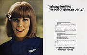 American Airlines Framed Prints - Ad: American Airlines, 1968 Framed Print by Granger