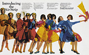 Overcoat Framed Prints - Ad: Braniff Airlines, 1966 Framed Print by Granger