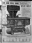 Ad Art Framed Prints - Ad For A Coal Oven In A 1902 Sears Framed Print by Everett