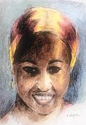 African Woman Prints - Adaeze II Print by Arline Wagner