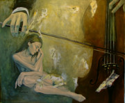 Cello Prints - Adagio  Sentimental confusion Print by Dorina  Costras