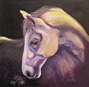 Horses Drawings - Adagio by Susan A Becker