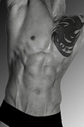 Body Art Photos Posters - Adam 4 Poster by Mark Ashkenazi