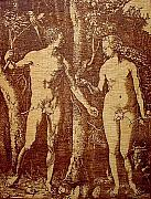 Works Pyrography - Adam and Eve by Angelce  Miskov