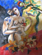 Limited Edition Paintings - Adam and Eve by Guri Stark