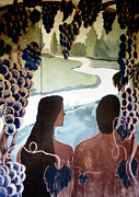 Toy Shop Prints - Adam And Eve Mural Print by Doug  Duffey