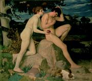 1859 Paintings - Adam and Eve  by William Strang