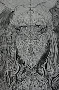 Lamb Of God Drawings - Adam by Brian c Baker