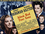 Robert Adam Posters - Adam Had Four Sons, Ingrid Bergman Poster by Everett