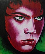 Singing Painting Originals - Adam Lambert - Intensity by Anne Gardner